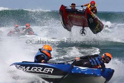 Smuggler Marine, Quin Building race at the Thundercat NZ Surfcross Nationals at Piha in 2011