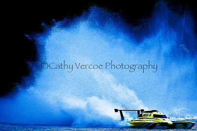 The GP Hydroplane Annihilator races at the NZ GP Hydro Nationals at Lake Karapiro in 2011