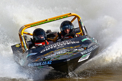 A JetPro Team race at the NZ Jetsprint Nationals in Gisborne 2011