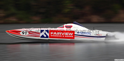 Boat Category: Superboat - Fairview Race Title: NZ Offshore Powerboats  Venue: Lake Karapiro World Speed Record