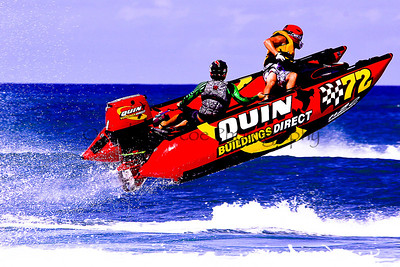 Quin Buildings Direct races at the Thundercat NZ Surfcross Nationals at Piha 2011