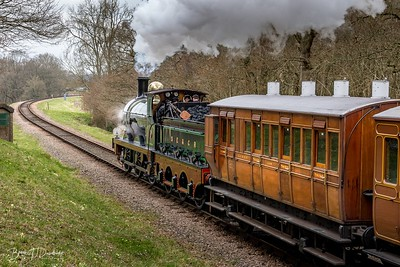 SER Stirling 0-6-0 No.65 approaches Horsted Keynes
