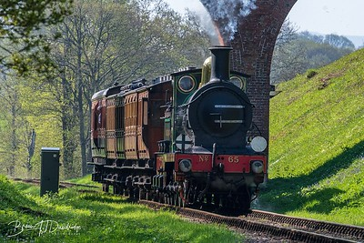 SECR Stirling 0-6-0 No.65 at Three Arch Bridge