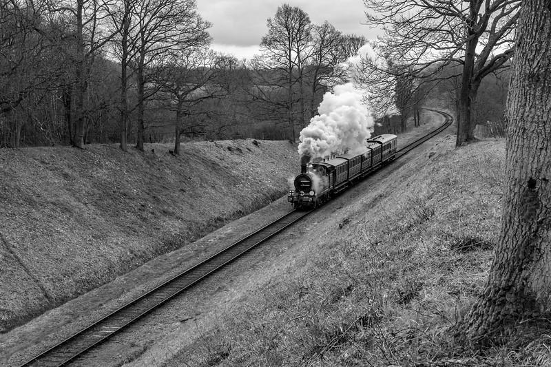 South Eastern & Chatham Railway No.263 approaches Three Arch Bridge