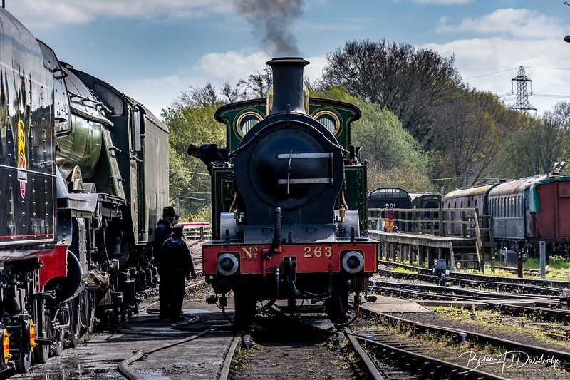 South Eastern & Chatham Railway H-class No.263 in steam