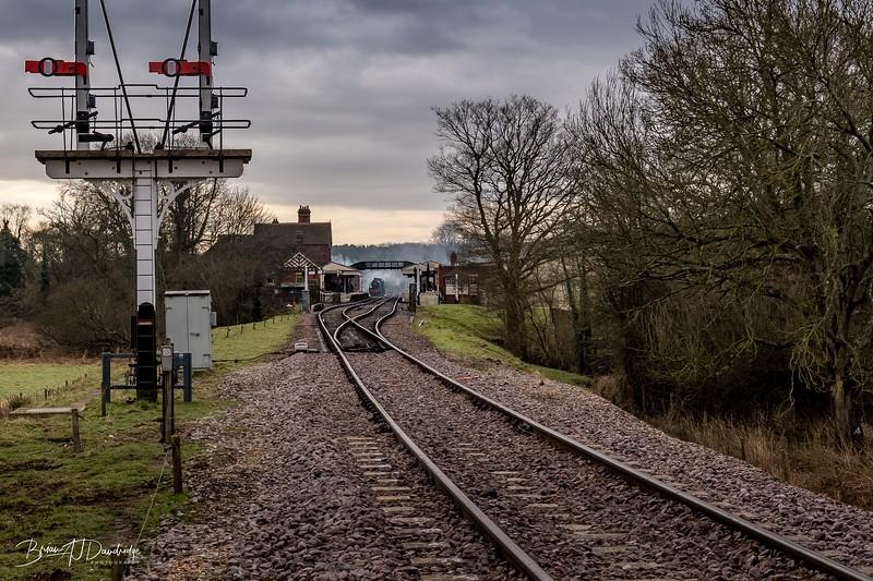 Looking back at Sheffield Park Station