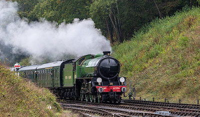 LNER Thompson Class B1 61306 approaches Horsted Keynes