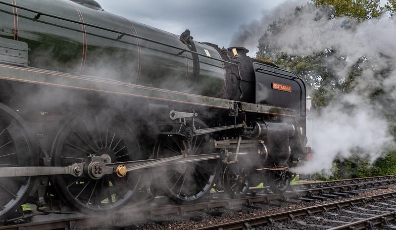 BR Standard Class 7 70000 Britannia makes steam