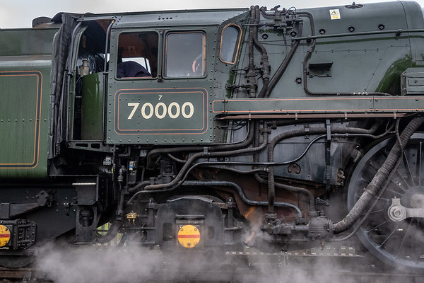 "BR Standard Class 7 70000 Britannia - a view of ""the office"""