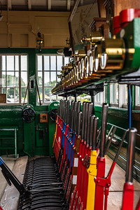 Inside Horsted Keynes Signalbox