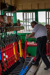 Signalman at work