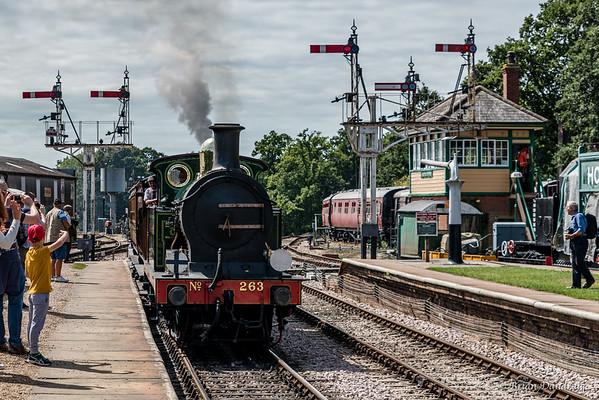 South Eastern & Chatham Railway No.263 arrives at Horsted Keynes