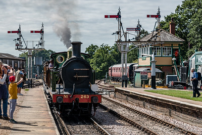 South Eastern & Chatham Railway No.263 arrives at Horsted Keynes