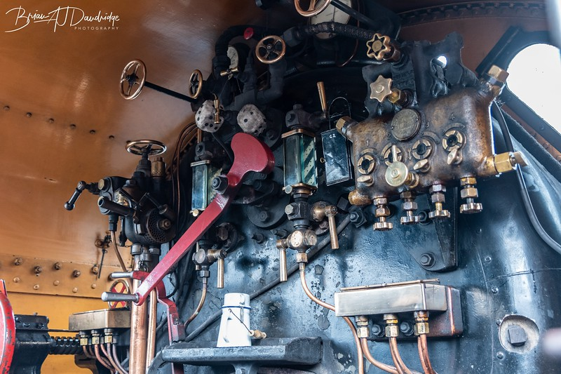 In the cab of Maunsell S15-class 4-6-0 No.847