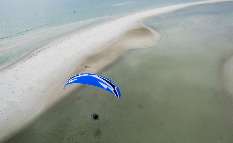 Me, flying over a sand-bar in southwestern Florida