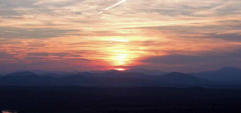 Blue-ridge Mountains sunset