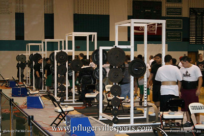 Powerlifting meet at Connally HS, Feb 21, 2009