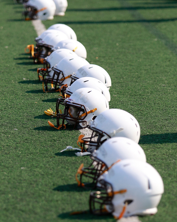 . North Farmington spent their first day in pads on Wednesday as they prepare to open their season on August  26 against Greenville. (Oakland Press photo by Timothy Arrick)