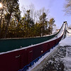 KRISTOPHER RADDER — BRATTLEBORO REFORMER<br /> Ski jumpers go down the Harris Hill Ski Jump, in Brattleboro, Vt.,  during a day of practice on Friday, Feb. 14, 2020.