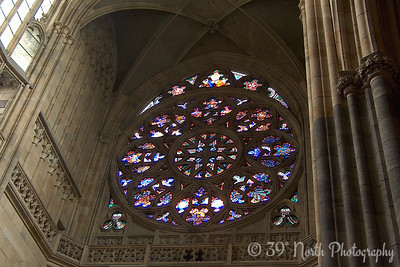 Inside St. Vitus Cathedral. I had to pay extra for a permit to take pictures inside.
