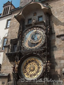 The Astronomical Clock or Orloj. The oldest part of the Orloj, the mechanical clock and astronomical dial, dates back to 1410!