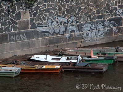 Boats on the River Vltava