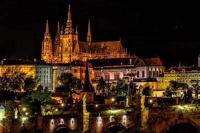 The Charles Bridge and the Prague Castle