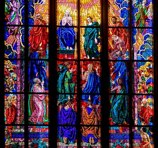 The Chapel of St. Ludmila in St. Vitus Cathedral, Prague. There is so much high quality glass art in St. Vitus Cathedral that entire websites are dedicated to it.