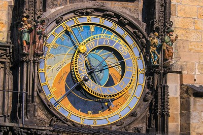 This clock has kept time for Prague for 600 years and we saw its daily show of animated figurines (next photo). We got lucky.  Four months after we were there it stopped and is undergoing a delicate, major rebuild.