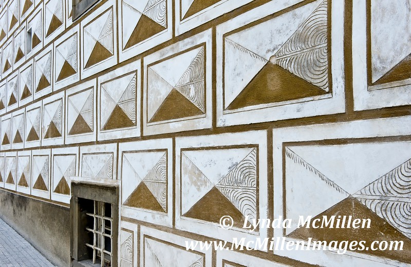 """The Prague guides referred to plaster wall covering as """"graffiti""""."""