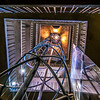 Elevator to the top of the Astromical Clock, Prague