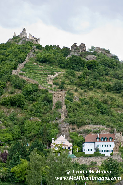 Richard the LIonheart was imprisoned in the castle on the hill, Durnstein, Austria.