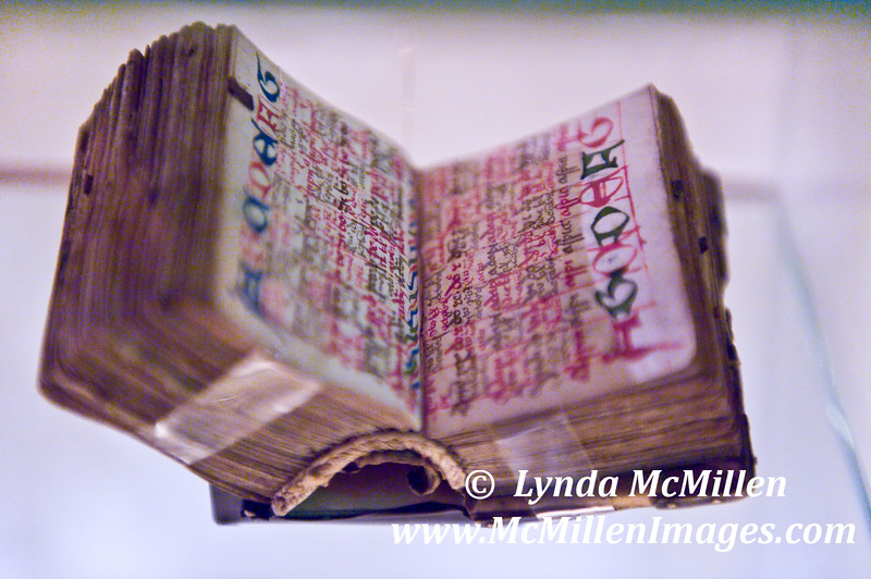 This tiny (the size of an index card when opened) book was scribed over 500 years ago by one of Melk's benedictine monks.
