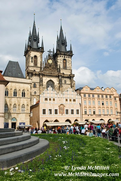 Tyn Church in Prague's Old Town Square (Landscape)