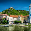 Our view while cruising down the Danube River in Vienna, Austria