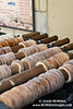 Trdelnik rolling, rolling, rolling: Traditional slovak cake and sweet pastry.