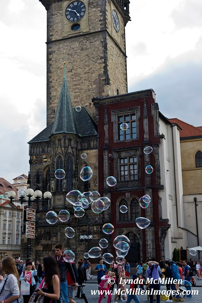 Bubbles #2 in Old Town Square, Prague