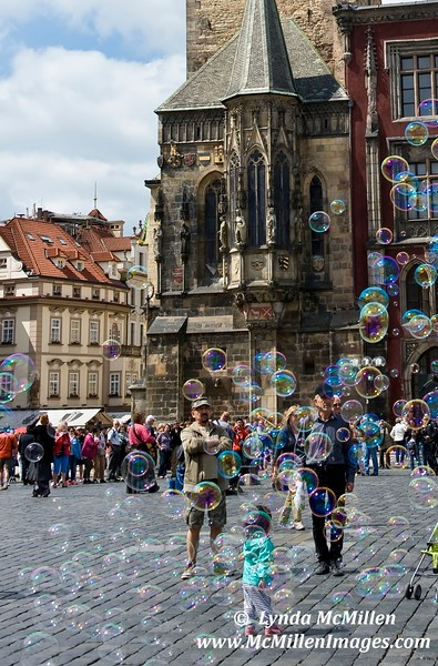 Bubbles #1 in Old Town Square, Prague