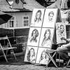 Street Artist on the Charles Bridge, Prague.