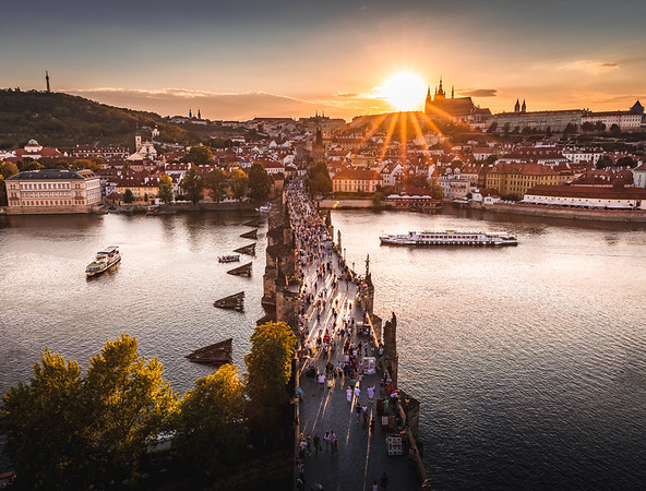 Evening Rush! - Charles Bridge, Prague