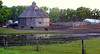 Round pioneer barn near Portage la Prairie
