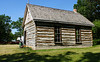 Log schoolhouse, donated to MB Agricultural Museum by RM of Lansdowne.