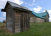 Outhouse, shed and pioneer home