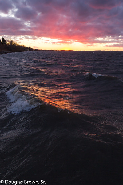 Sunset Wave Action