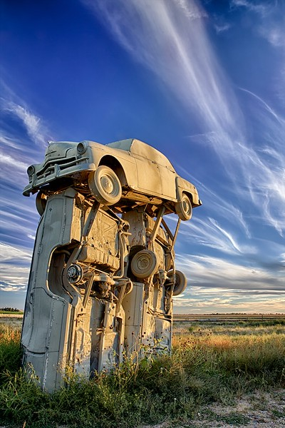 Clouds over Carhenge