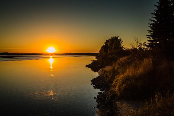 Golden Yellow Sunset
