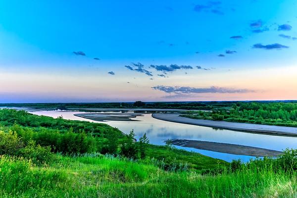 Sunset over the Saskatchewan River