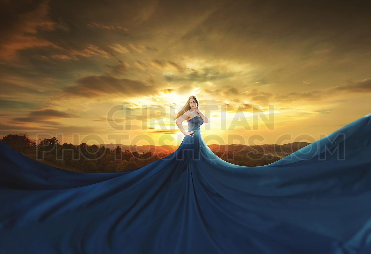 Huge Blue Dress