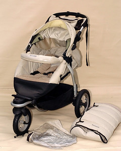 Steelcraft Transformer pram with winter footmuff.