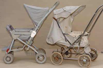 1986 and 1963 Steelcraft prams.